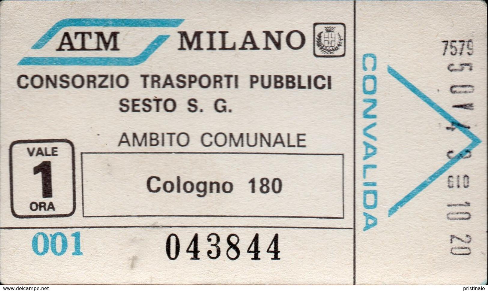 Biglietto Trasporto Pubblico ATM Milano - Europa