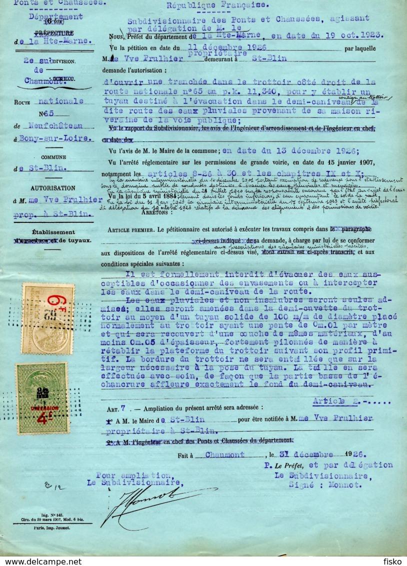 FISCAUX Sur Document  Dimension D84 + EC474  Tarif - Fiscaux