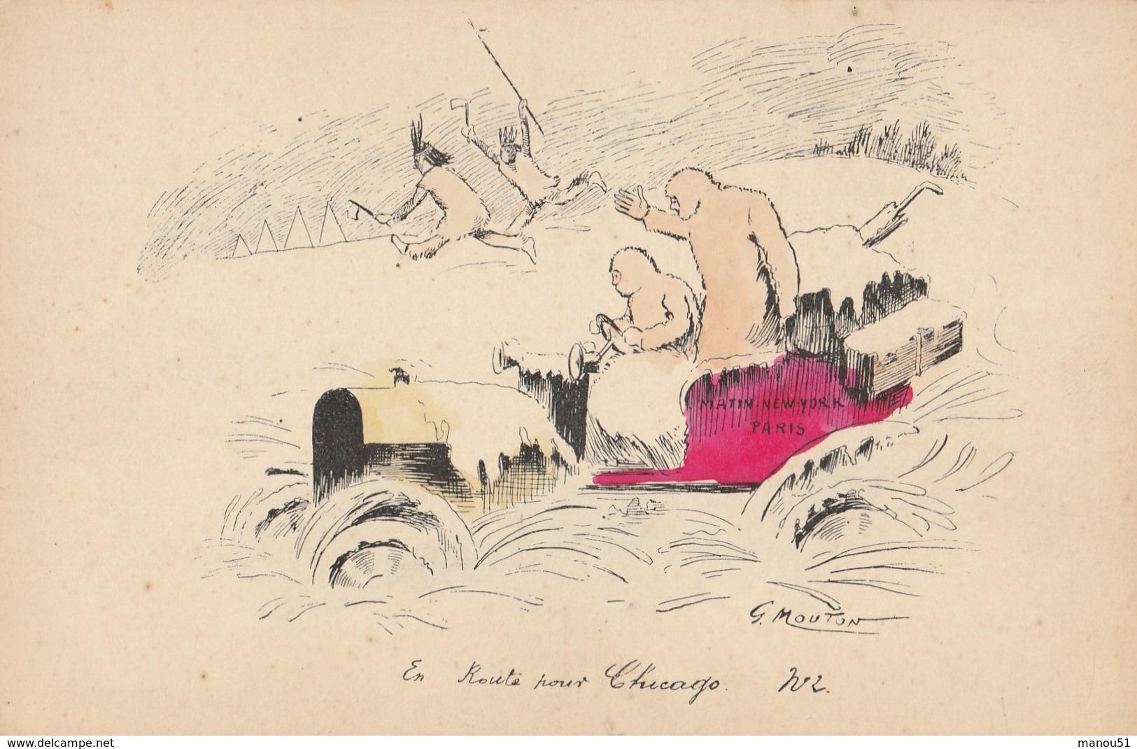 Illustrateur - G. MOUTON : En Route Pour Chicago - Autres Illustrateurs