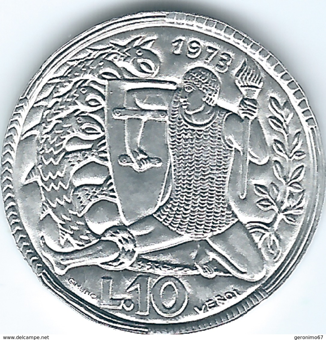 San Marino - 1973 - 10 Lire - KM25 - San Marino