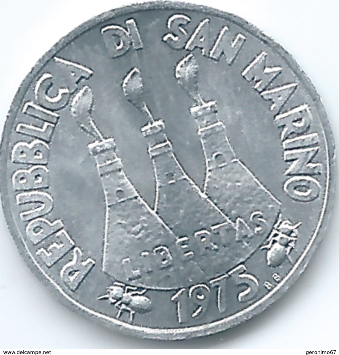 San Marino - 1975 - 1 Lira - KM40 - San Marino