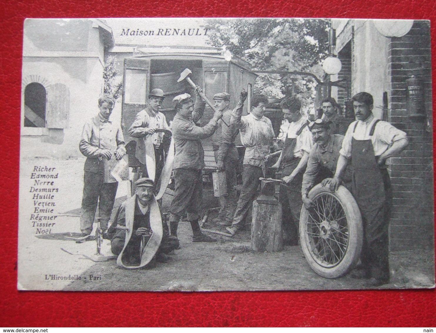 """92 - BOULOGNE BILLANCOURT - MAISON RENAULT """" - SUPERBE CARTE SUR L' AUTOMOBILE - """" TRES RARE """" - - Boulogne Billancourt"""