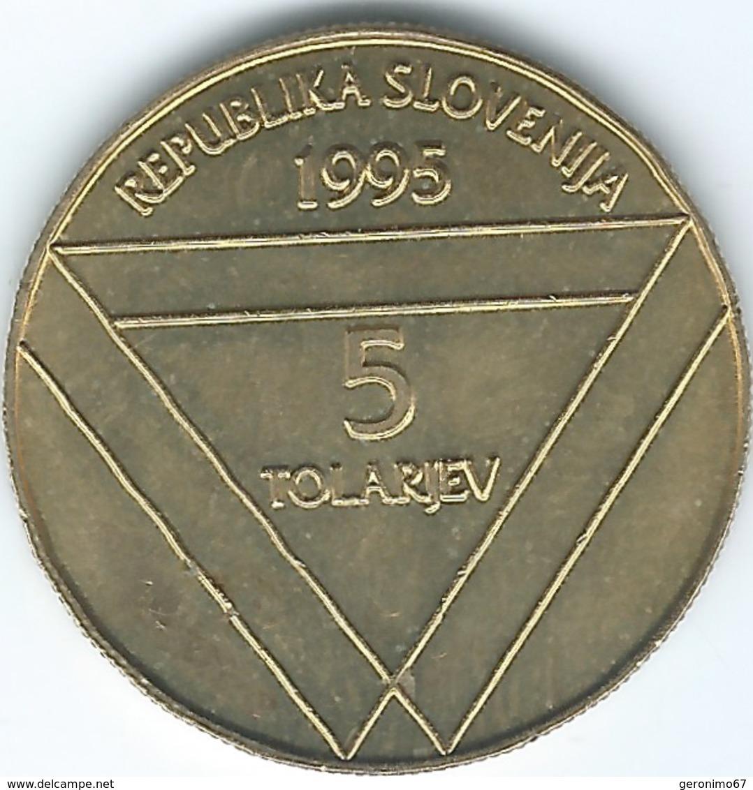 Slovenia - 1995 - 5 Tolarjev - Aljaž Turret - KM26 - Slovenia