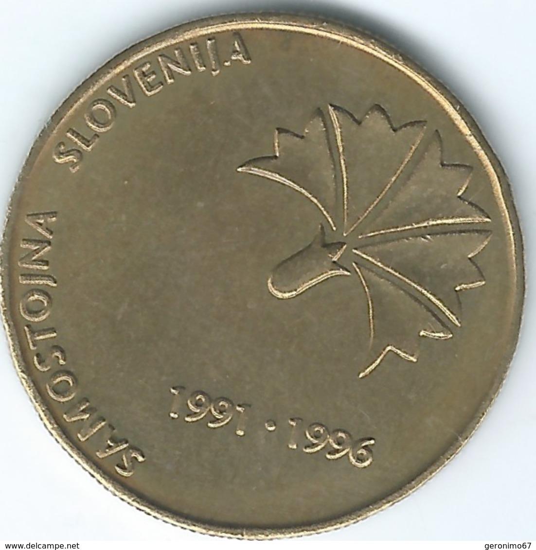 Slovenia - 1996 - 5 Tolarjev - 5th Anniversary Of Independence - KM32 - Slovenia