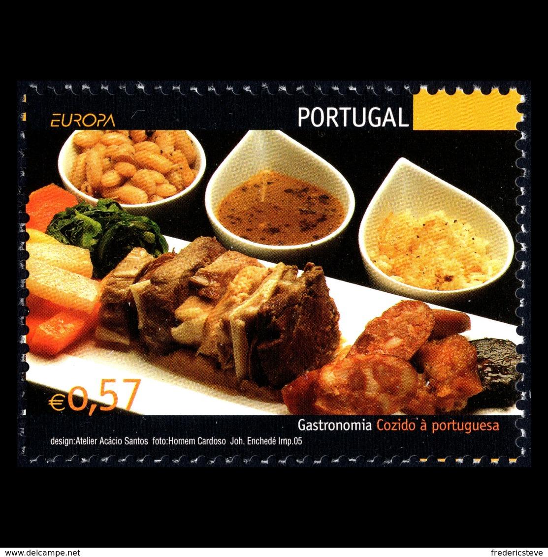 (!)  Timbre EUROPA CEPT De 2005  Thème La Gastronomie  PORTUGAL  Neuf(s) ** Mnh - 2005