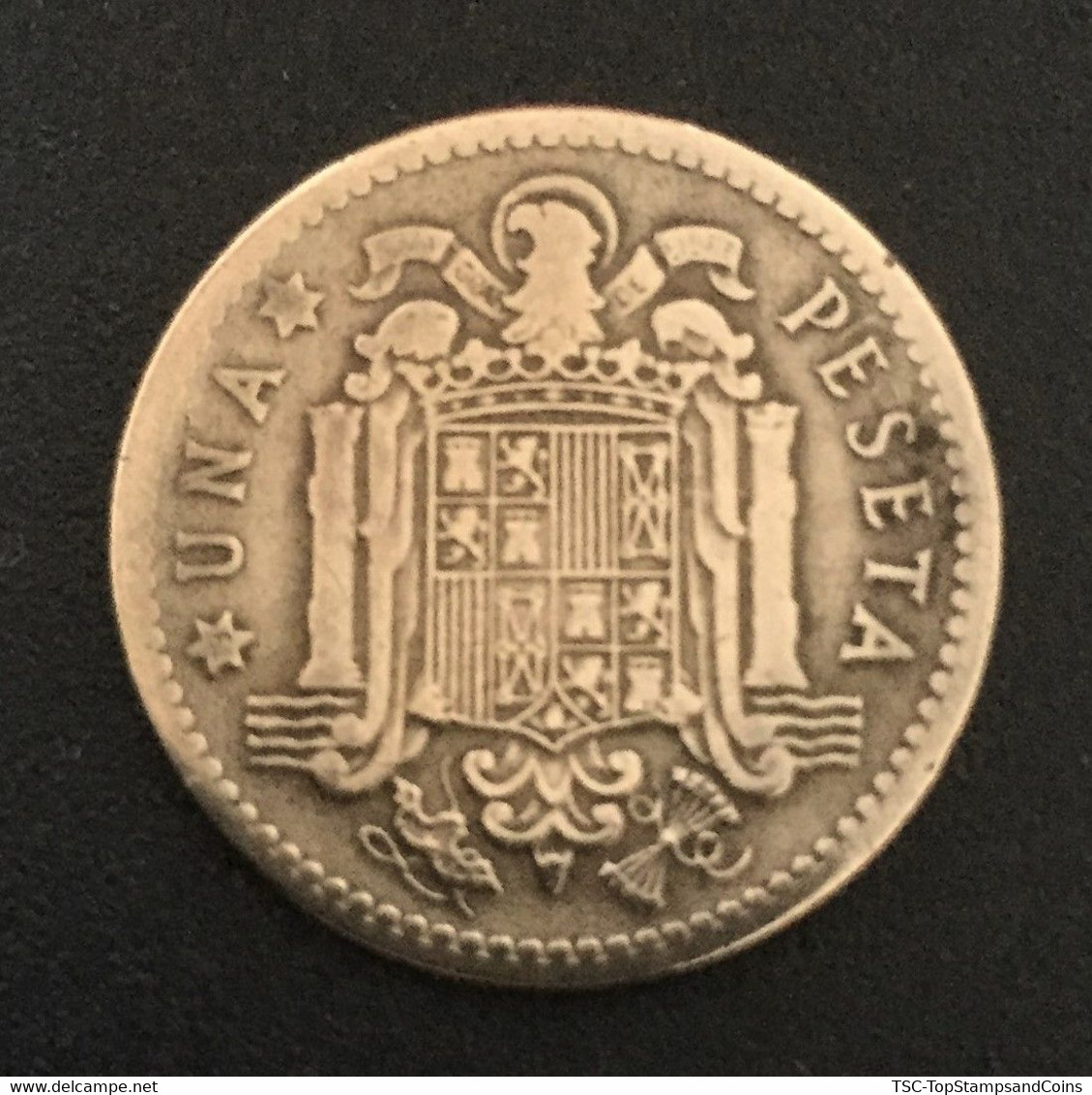 $$ESP1000-Francisco Franco - 1 Peseta Coin - Spain - 1953 - 1 Peseta