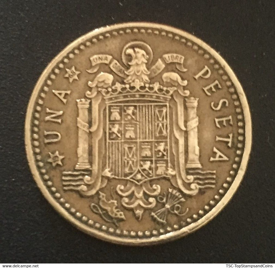$$ESP1003-Francisco Franco 1 Peseta Coin - Spain - 1966 - 1 Peseta