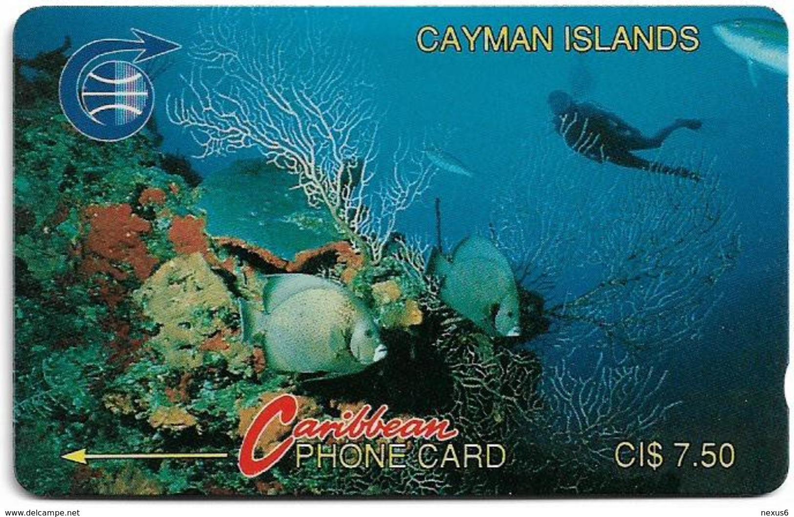 Cayman Isl. - Diver In Reef, 2CCIA, 1991, 48.500ex, Used - Iles Cayman