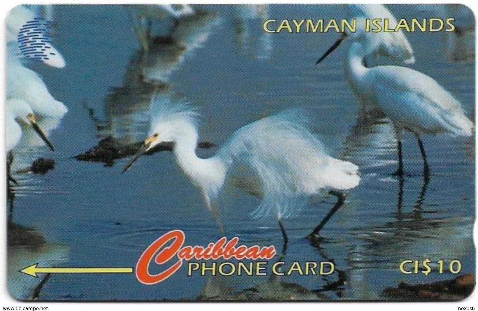 Cayman Isl. - Snowy Egret, 13CCIC, 1995, 25.000ex, Used - Iles Cayman