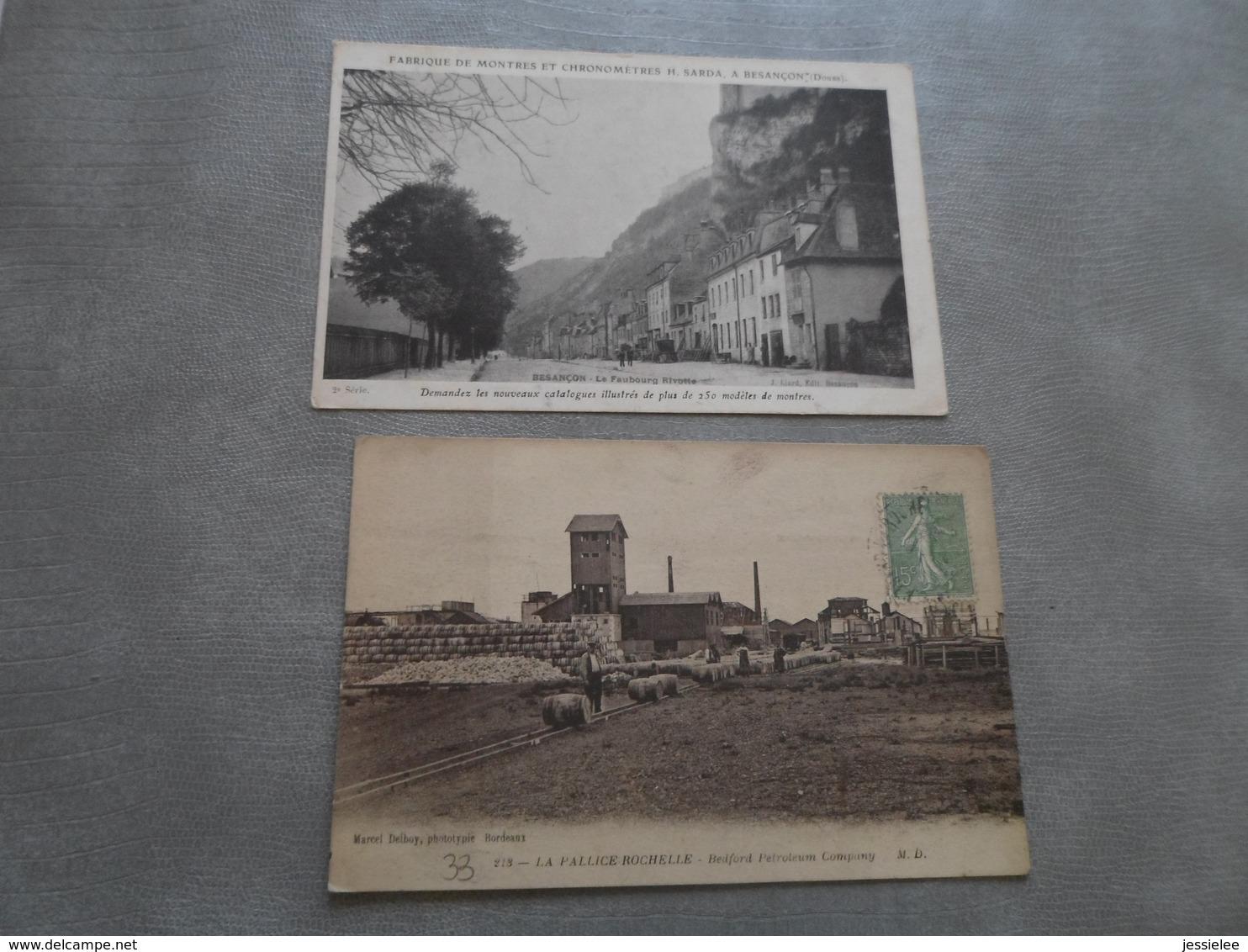 LOT DE 66 CPA USINES / INDUSTRIES + 5 CPA CONSTRUCTION DU TUNNEL SOUS LA MANCHE EN 1907 - 5 - 99 Postcards