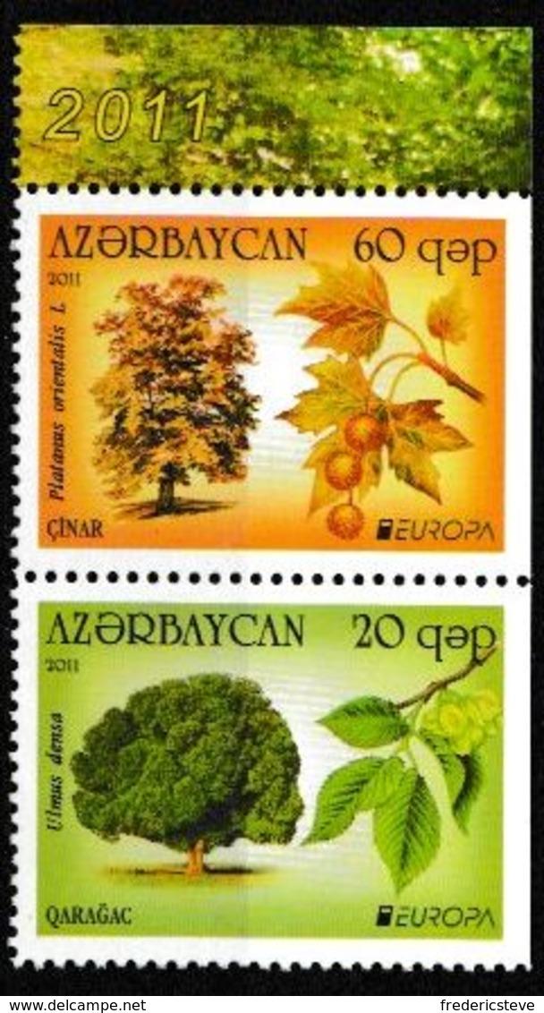 (!)  Timbre EUROPA CEPT De 2011   AZERBAIDJAN  Y&T 721/722 Neuf(s) ** Mnh - 2011