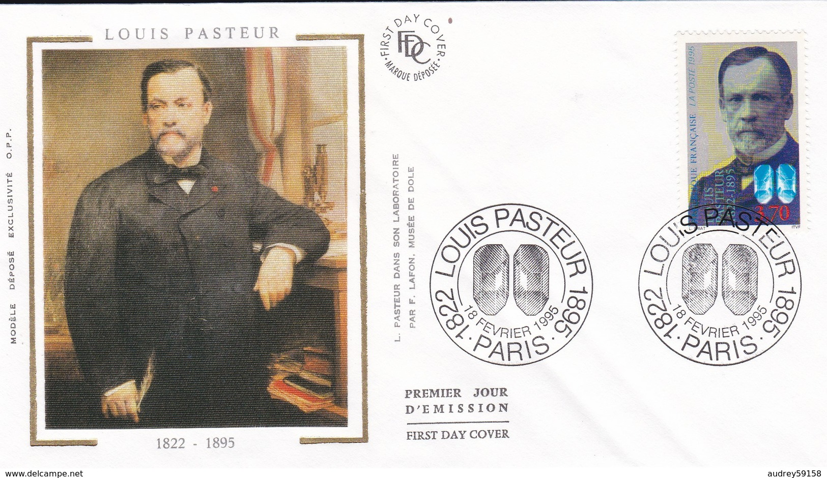 FRANCE 1995 FDC LOUIS PASTEUR YT 2925 - 1990-1999