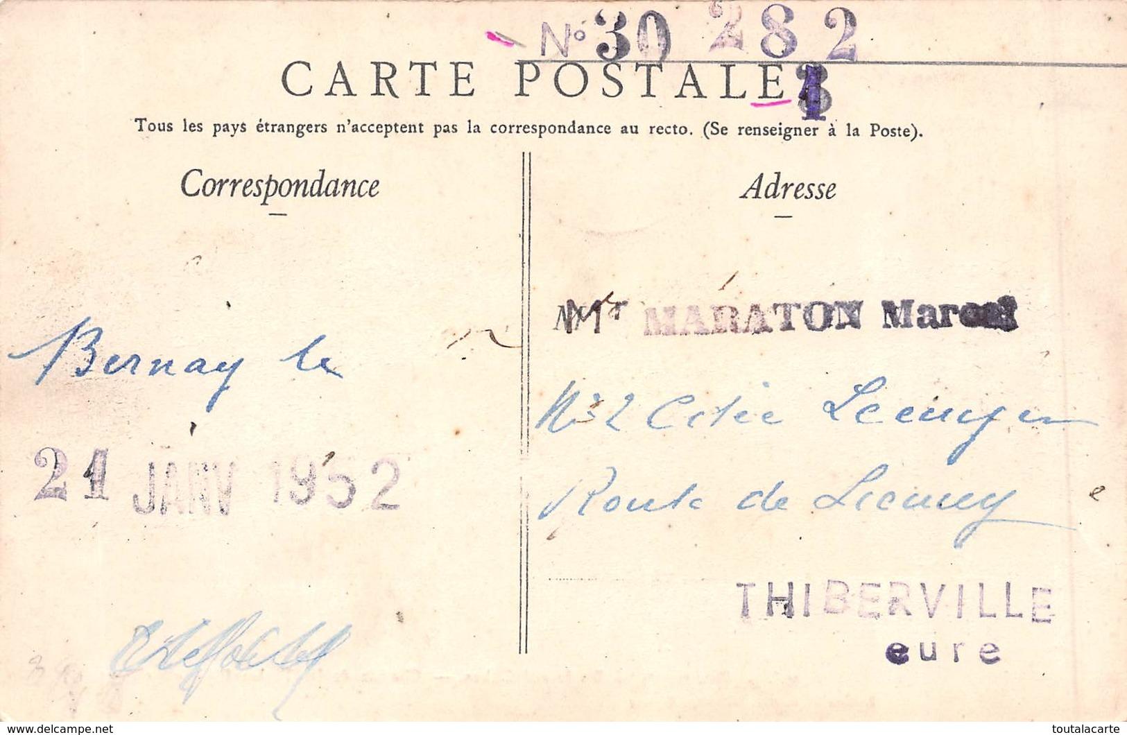 CPA 27 BERNAY BOULEVARD DUBUS CHEMIN DE FER THIBERVILLE CORMEILLES - Bernay