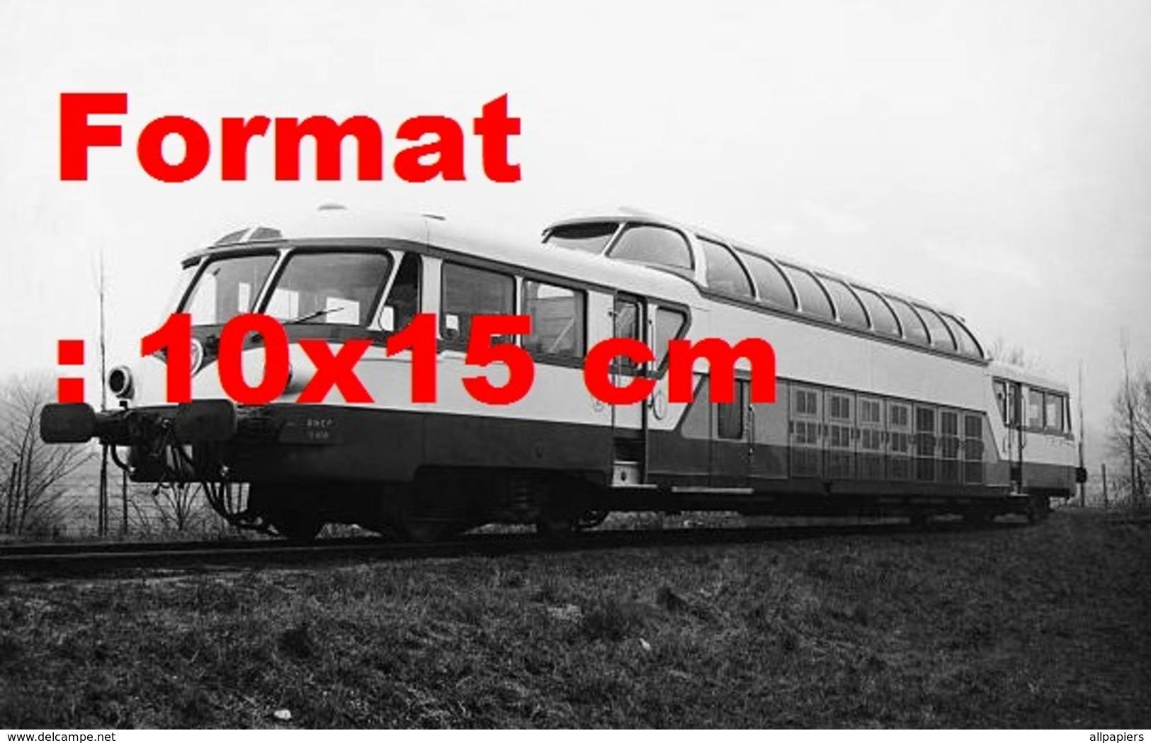 Reproduction D'une Photographie Ancienne Du RailCar Panoramique X4201 SNCF Construit Par Renault En 1959 - Repro's