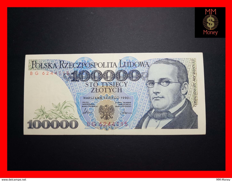 POLAND 100.000 100000 Zlotych 1.2.1990 P. 154   VF++ - Polonia