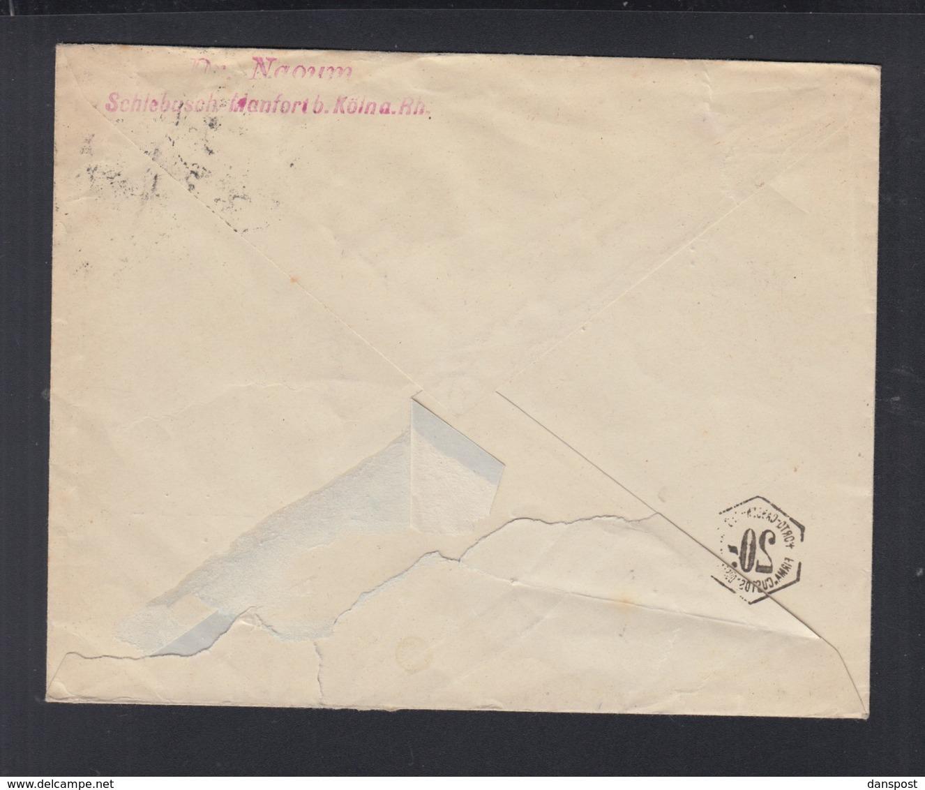 Dt. Reich Brief 1922 Schebusch Nach München (2) - Briefe U. Dokumente