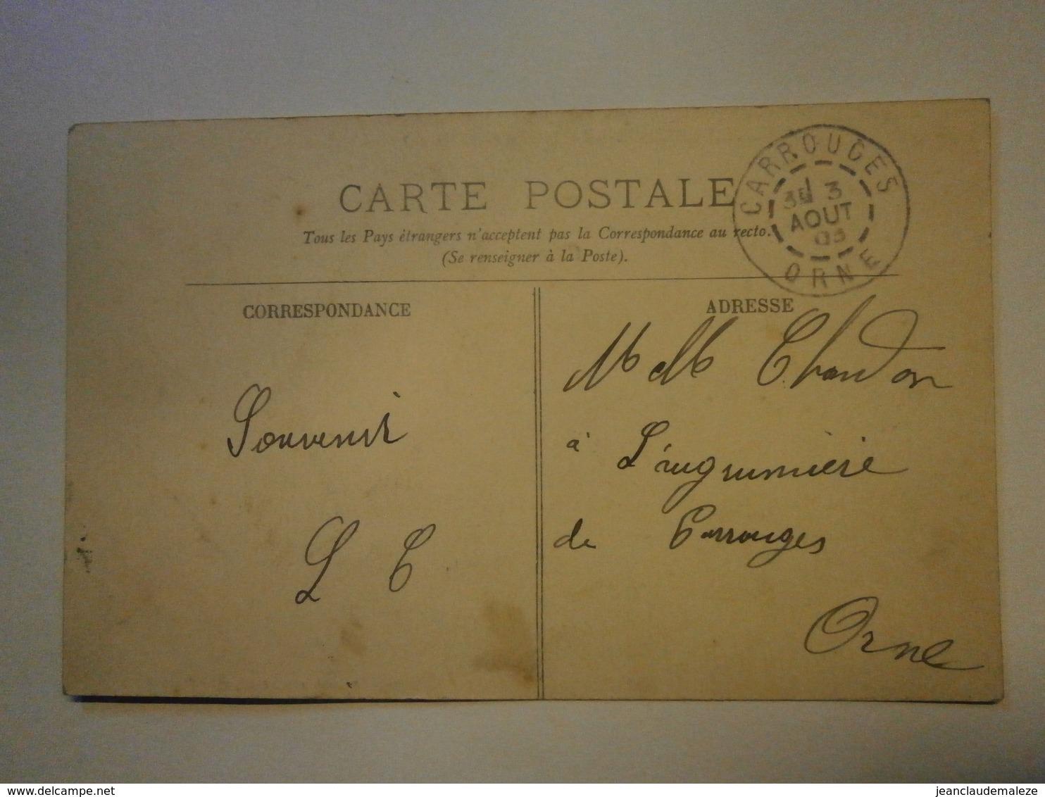Sainte Marguerite De Carrouges L'église,Orne 61,voyagée 1903, Très Bel état,pas Commun - Carrouges