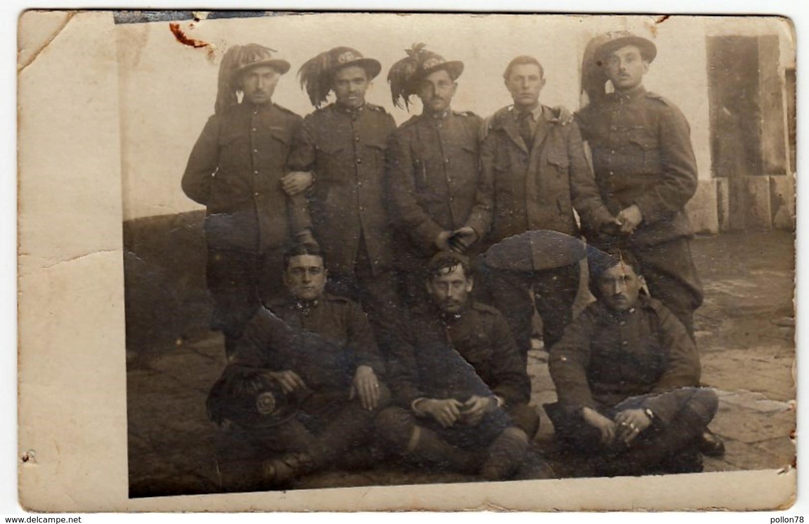 VECCHIA FOTOGRAFIA - OLD PHOTO - MILITARI - BERSAGLIERI - 1919 - Vedi Retro - War, Military
