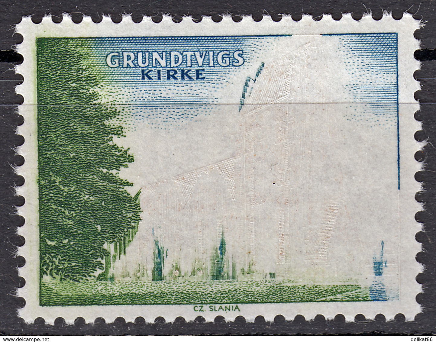 Probedruck, Test Stamp, Specimen, Prove, Grundtvig Kirke, Slania 1968 - Probe- Und Nachdrucke