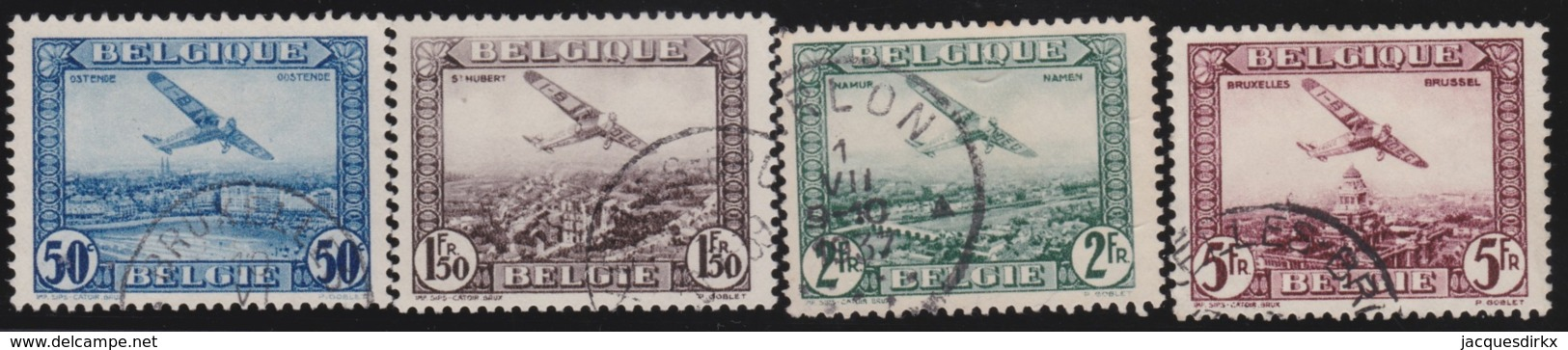 Belgie    .    OBP        .    LP  1/4      .        O     .      Gebruikt   .    /    .   Oblitéré - Airmail