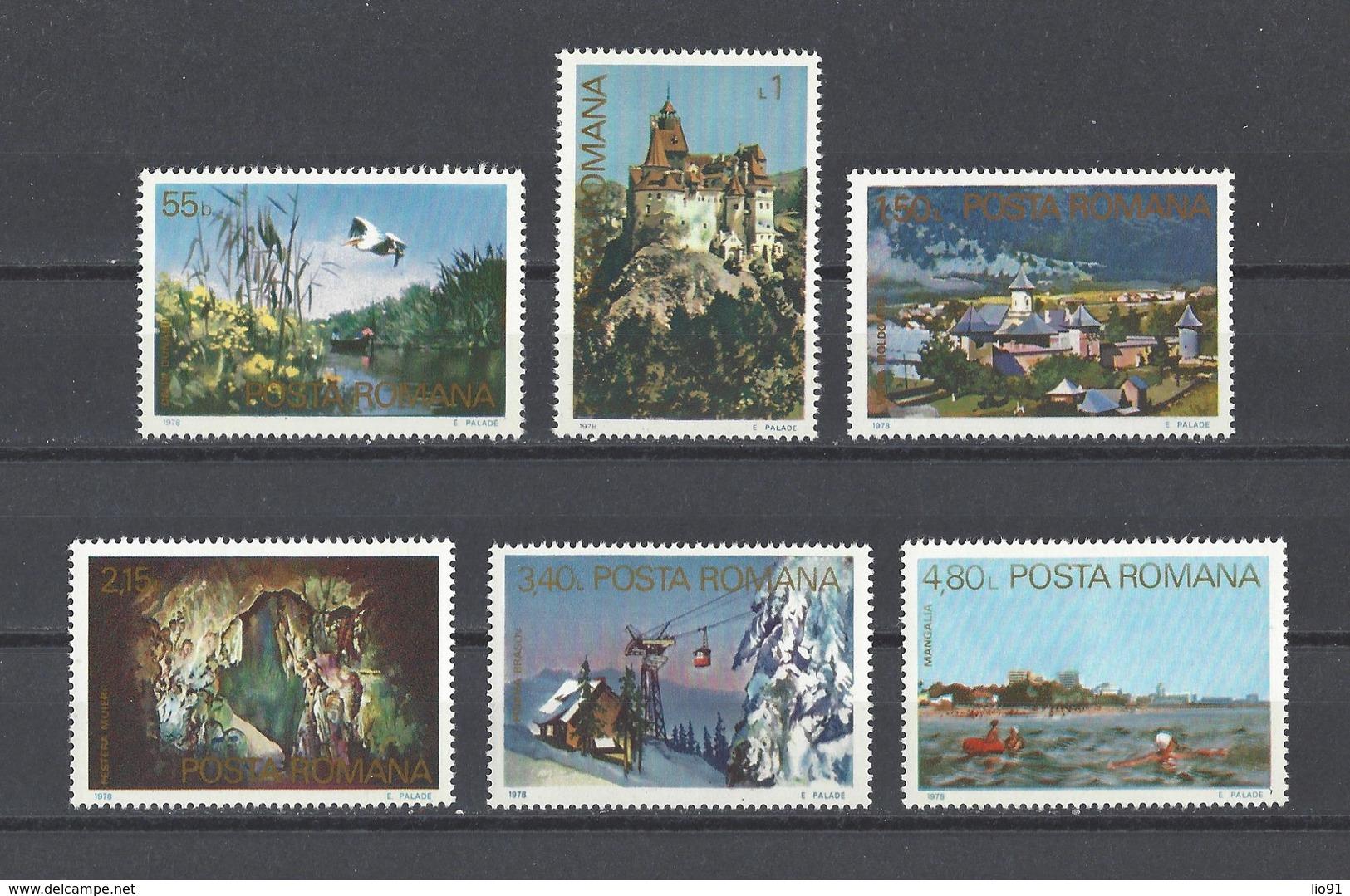 ROUMANIE.  YT  N° 3103/3108  Neuf **  1978 - Nuovi