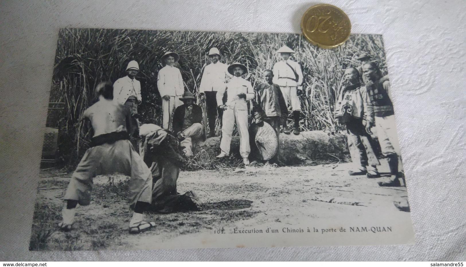 Pirates Chinois Décapité Uniforme Coloniale Bourreau  Tonkin Indochine Cochinchine Laissés En Exemple - Viêt-Nam