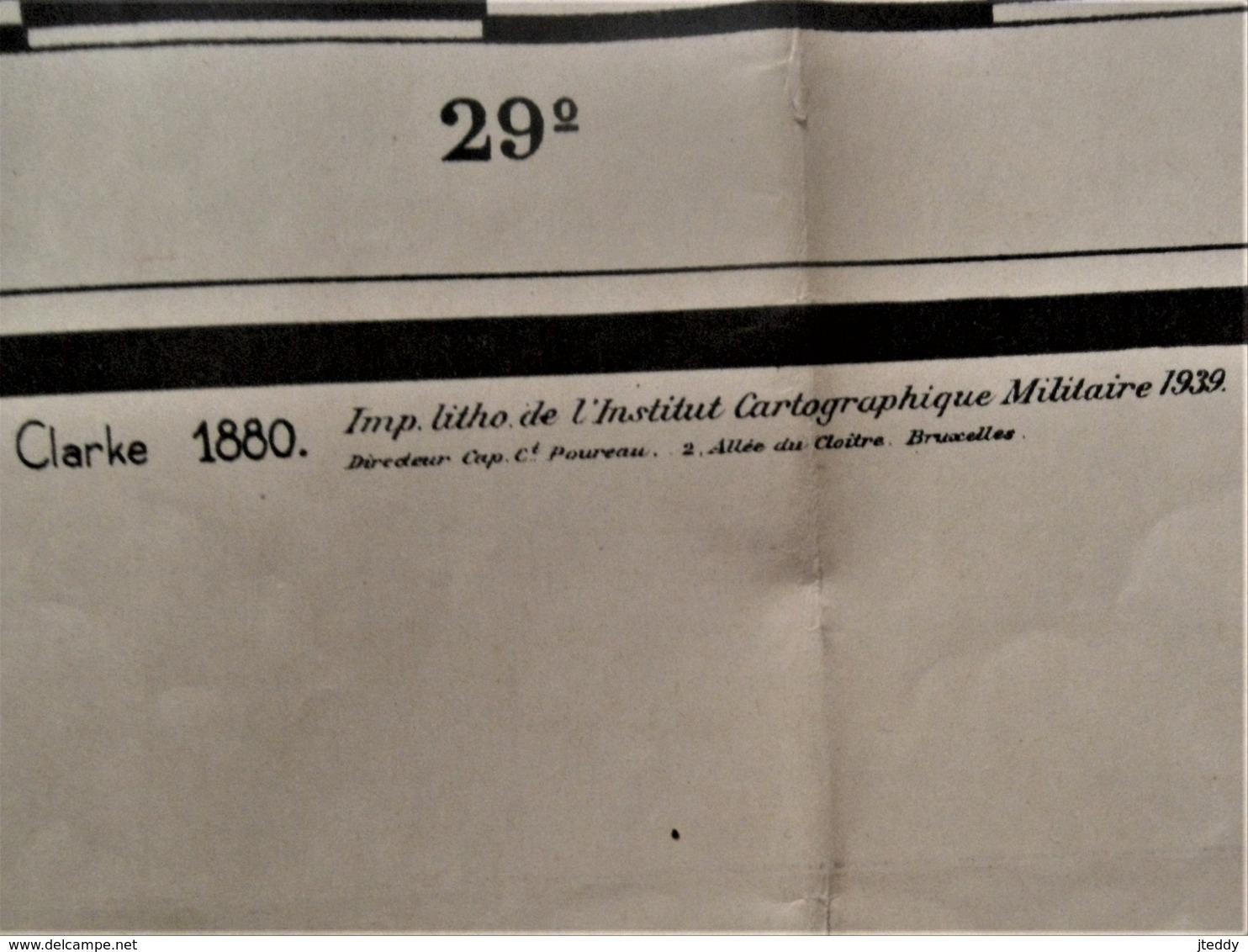Kaart   TERRITOIRES  DU  RUANDA  -- URUNDI  1938--39 - Cartes Géographiques