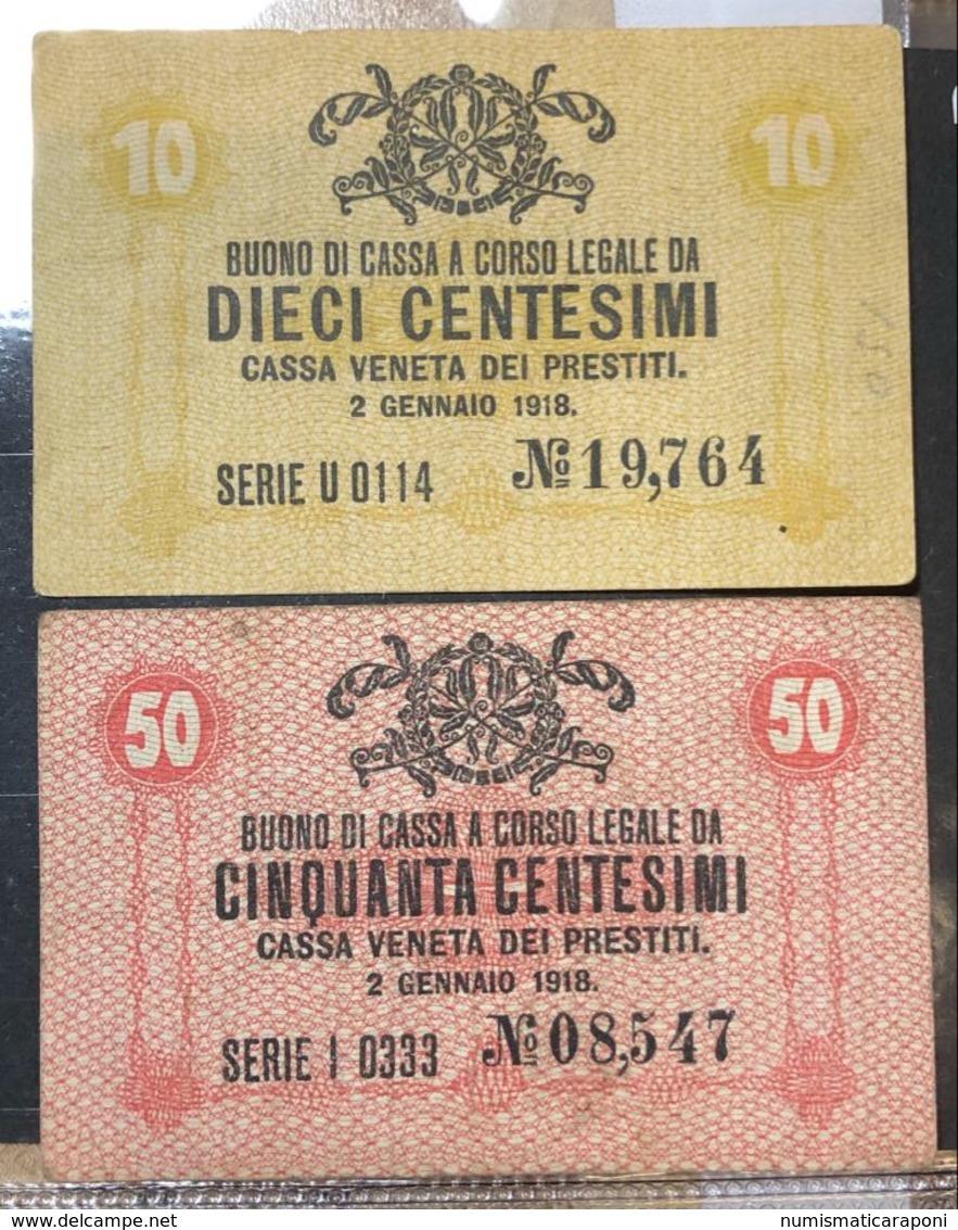 Cassa Veneta Dei Prestiti  50 + 10  Cent 1918  LOTTO 1344 - Ohne Zuordnung