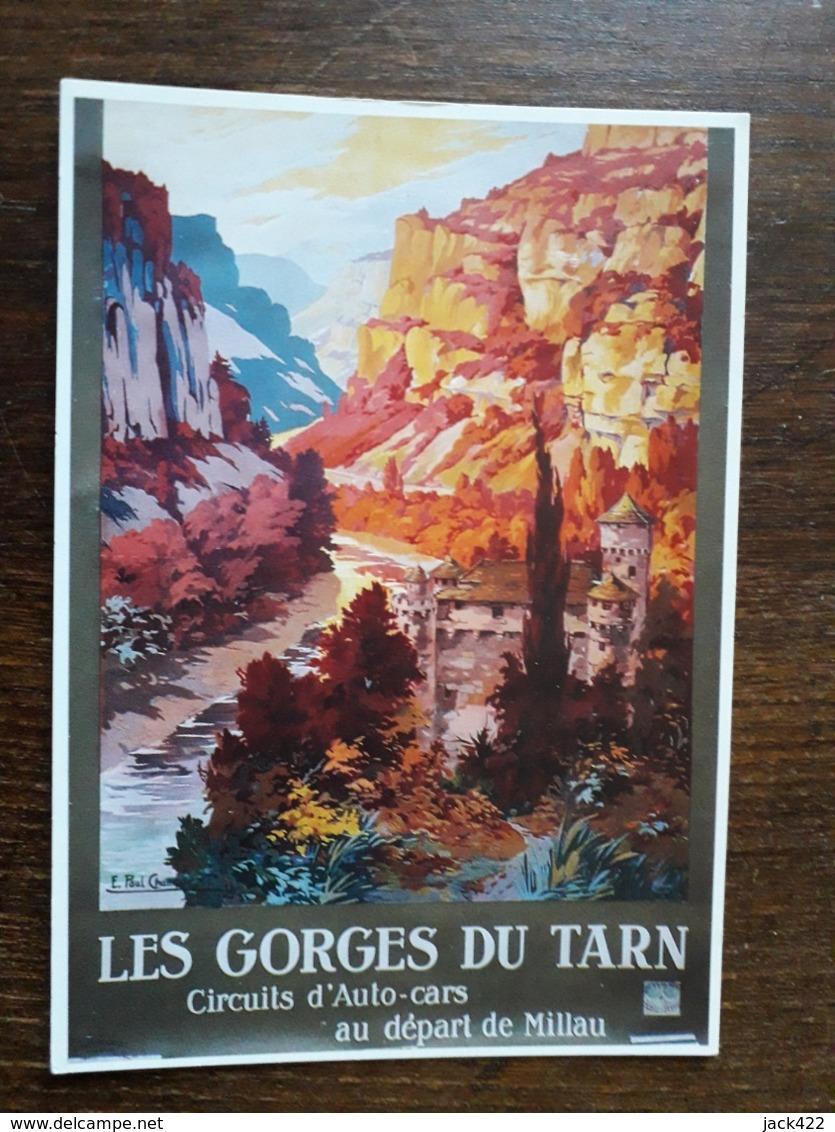 L27/1185 Les Gorges Du Tarn . Circuits Auto-cars Au Départ De Millau. Repro Affiche Ancienne - France