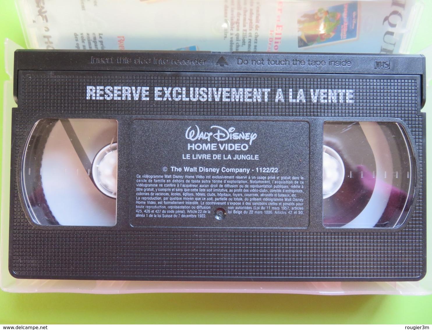 VHS - Cassette Vidéo - Le Livre De La Jungle - Les Grands Classiques - Walt Disney - Dessins Animés