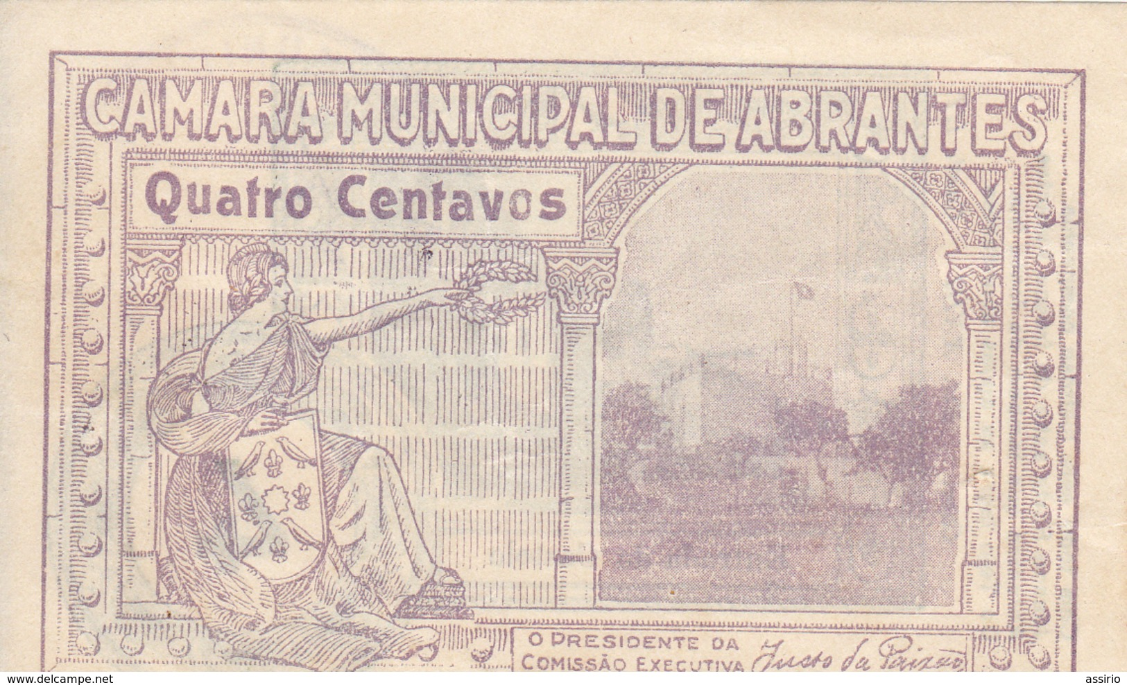 Portugal -- Cédula De Abrantes 4 Cent.nº 29 B - Portugal