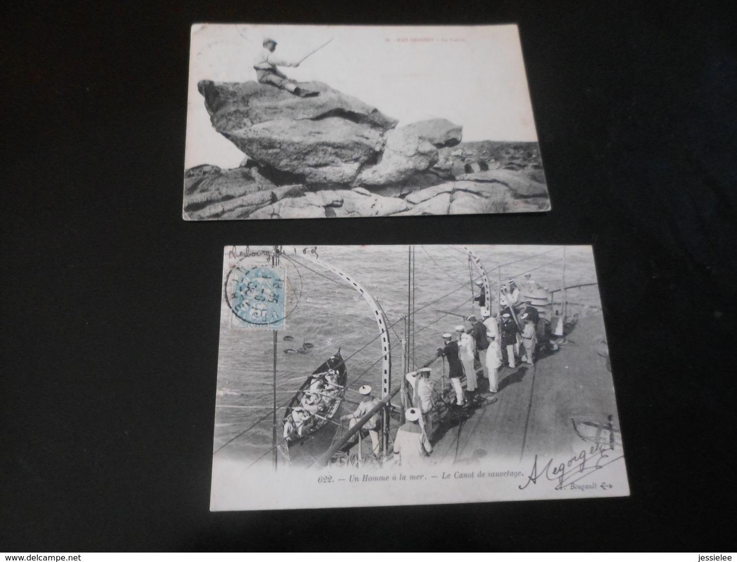 LOT DE 44 CPA / VRAC / PLAGES - BATEAUX - SCENES DE PLAGE - VILLES DIVERSES - 5 - 99 Cartes