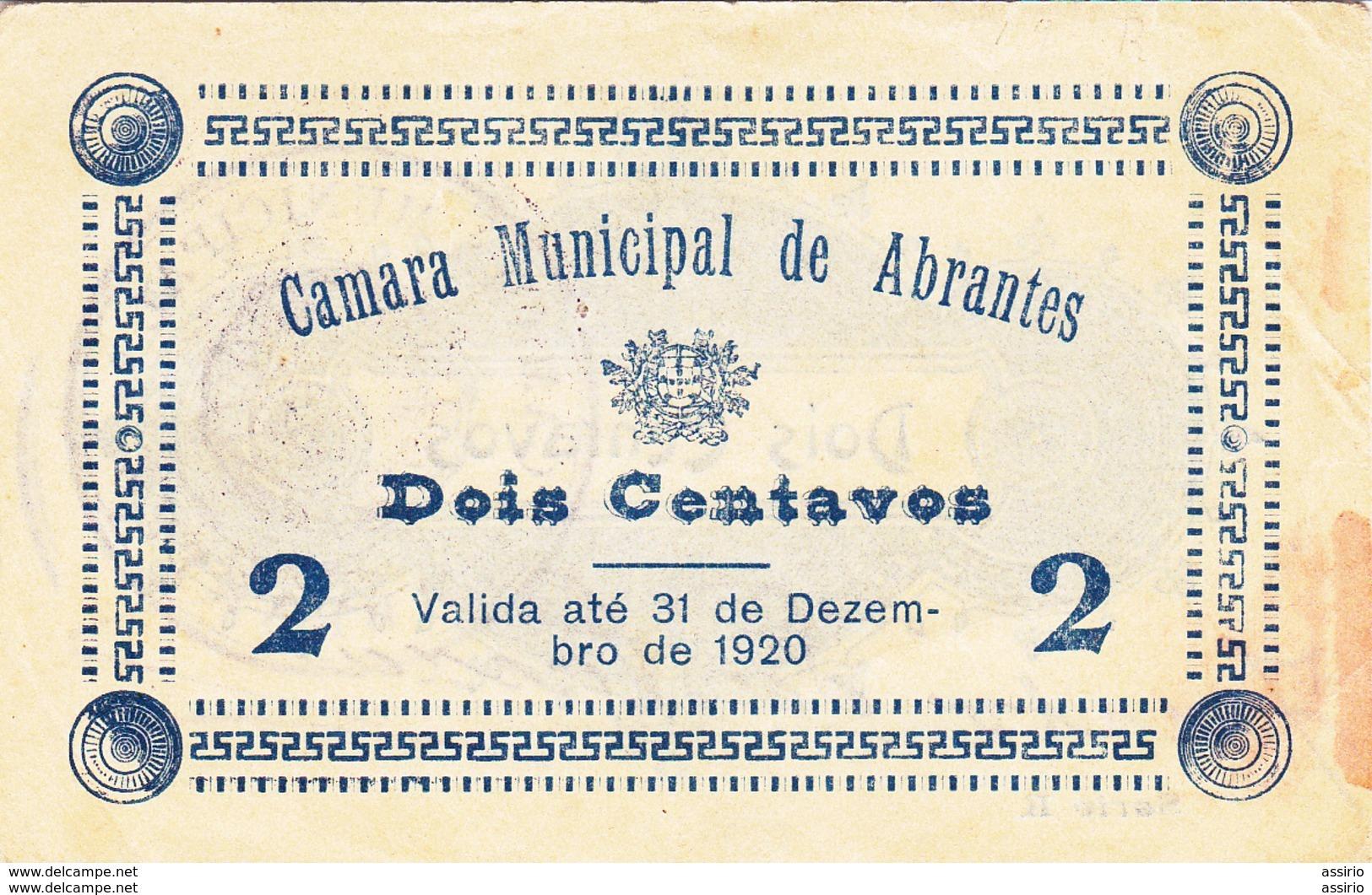 Portugal- Cédula De Abrantes   Ano 1920     -  Nº 19  (rara) - Portugal