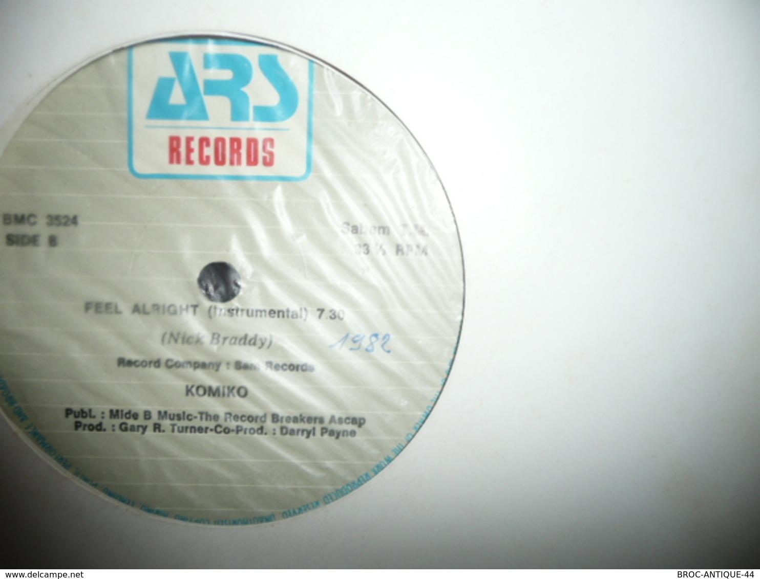 LP33 N°4168 - KOMIKO - FEEL ALRIGHT - ELECTRO FUNK SOUL DISCO - 45 Toeren - Maxi-Single