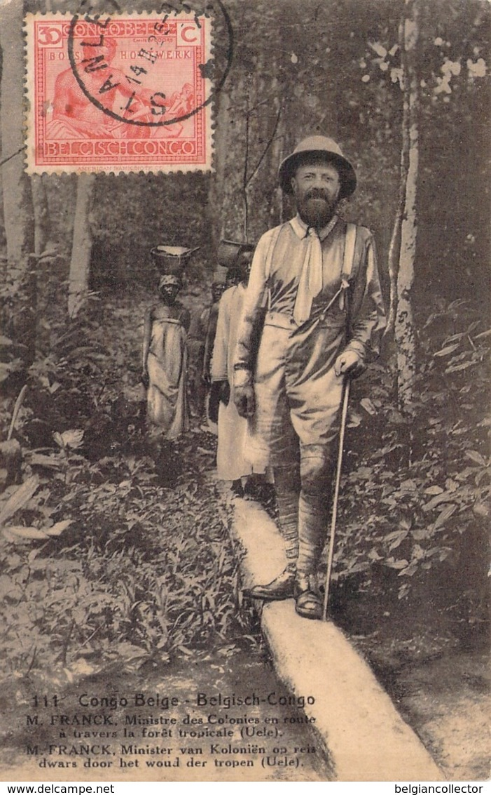 1925 - Congo Belge - M. Franck, Ministre Des Colonies En Route à Travers La Forêt Tropicale (Uele) - Congo Belga - Otros