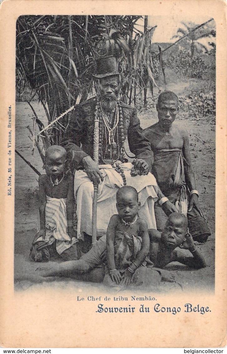 1923 - Congo Belge - Le Chef De Tribu Nembâo - La Louvière - Nels - Belgisch-Congo - Varia