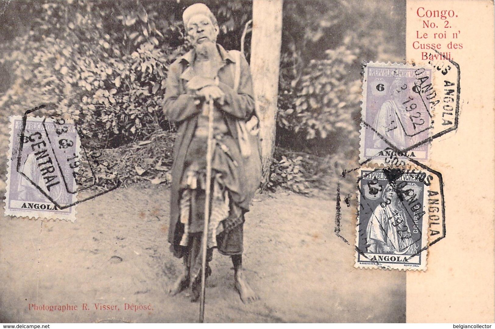 1922 - Angola - Congo - Le Roi N'Cusse Des Bavilli - Loanda - Visser - Angola