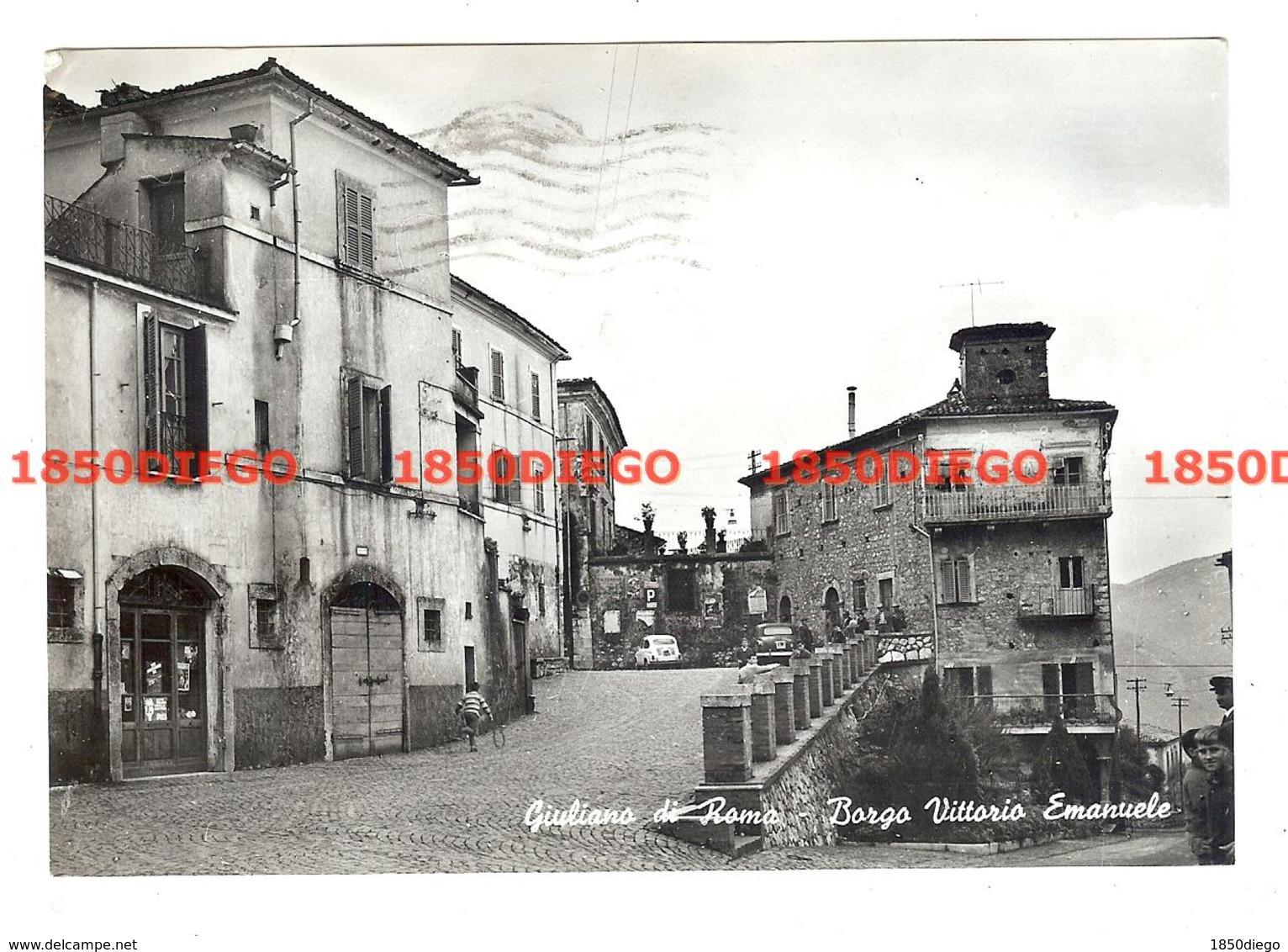 GIULIANO DI ROMA - BORGO VITTORIO EMANUELE F/GRANDE  VIAGGIATA 1964 ANIMAZIONE - Frosinone
