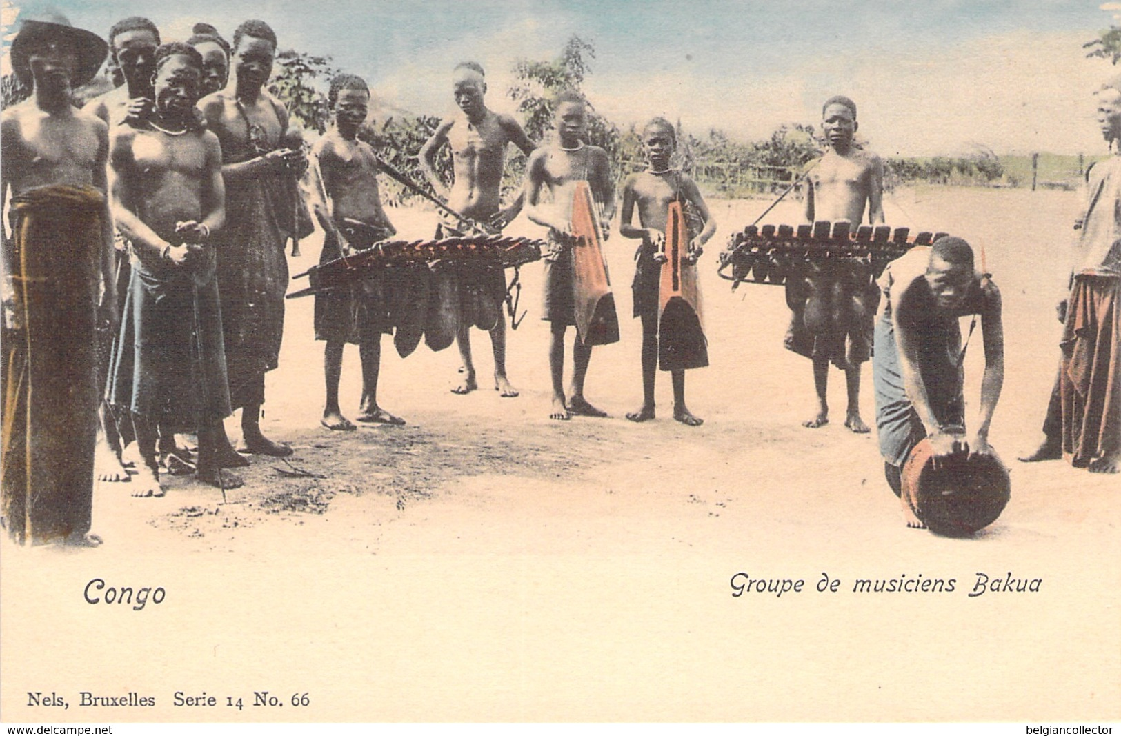 Congo - Groupe De Musiciens Bakua - Nels, Série 14 N° 66 - Belgian Congo - Other