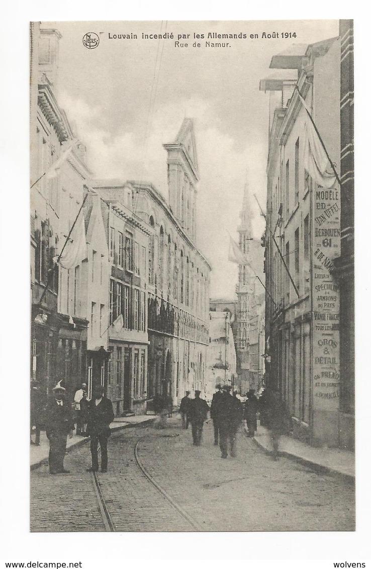 Leuven Rue De Namur Les Ruines PK Louvain Incendié Par Les Allemands En Août 1914 CPA - Leuven