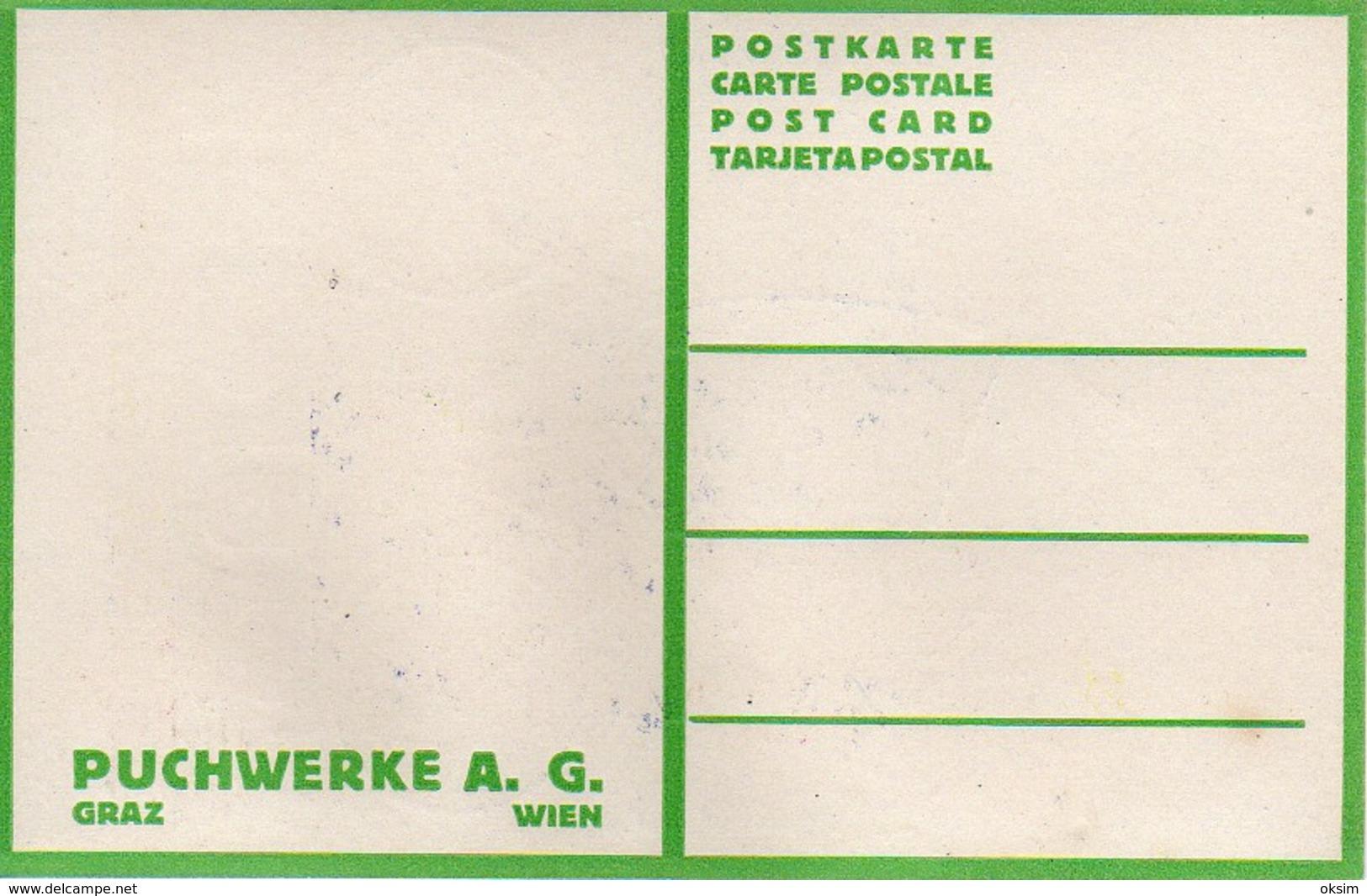 PUCH, F. ZWICKL, PUCHWERKE A. G., GRAZ, WIEN, INDIAN ON BICYCLE, INDIANER AUF FAHRRAD, ORIGINAL - Advertising