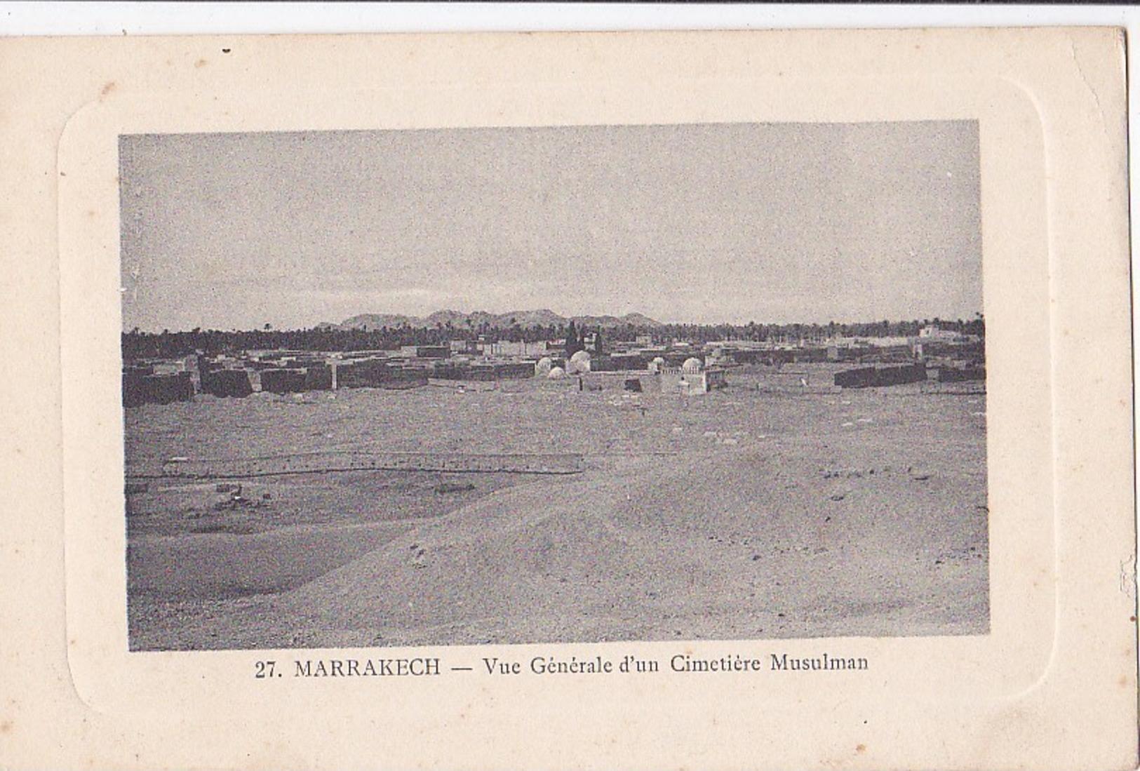 MARRAKECH Vue Générale D'un Cimetière Musulman  - Cadre Gauffré - - Marrakesh