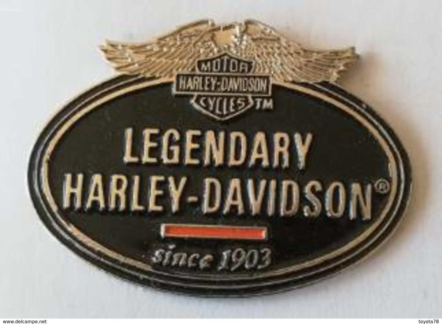 Pin's -HARLEY-DAVIDSON - Legendary Harley-Davidson Since 1903 - Motorfietsen