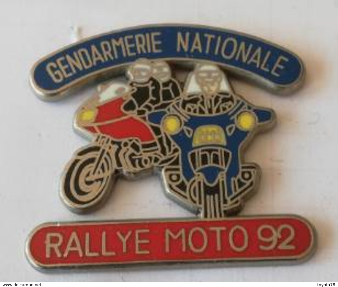 Pin's -GENDARMERIE - Rallye Moto 92 - Motorfietsen