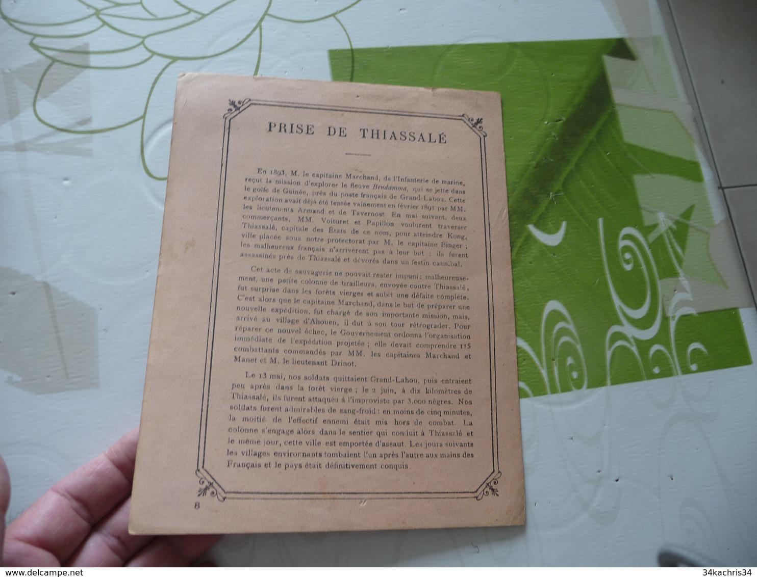 Protège Cahier Ancien La France Dans La Guinée Supérieure Assaut Et Prise De Thiassalé 02/06/1893 - Book Covers