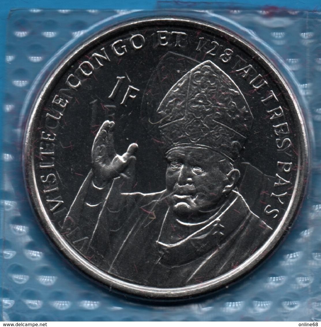 CONGO 1 FRANC 2004 (Jean Paul II) Pope John Paul II's Visit KM# 21 LION - Congo (République Démocratique 1998)