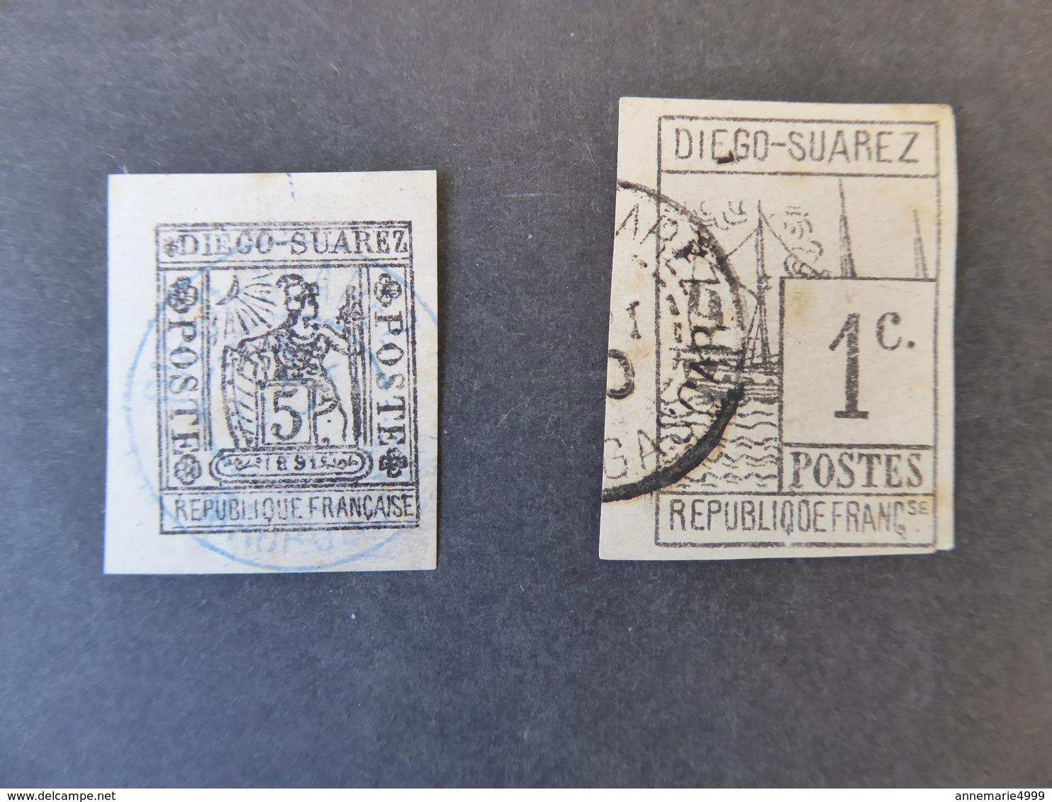 FRANCE Colonies DIEGO-SUAREZ N° 6 Et 10 Dont 1 Signé Brun Cote 280 € - Diego-suarez (1890-1898)