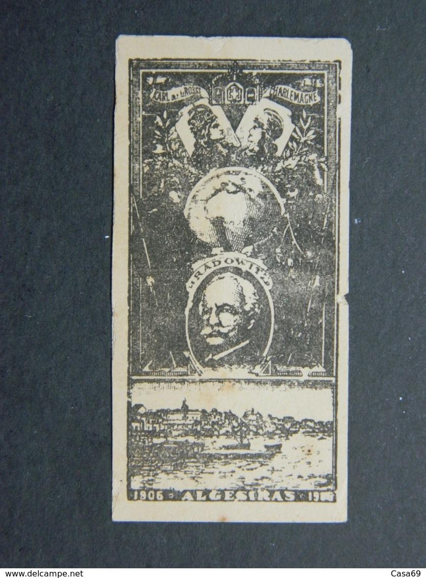 1906 Maroc Vignette Conférence D'Algesiras Sur L'avenir De L' Empire Chérifien - Propagande Anti-allemande - Morocco (1891-1956)