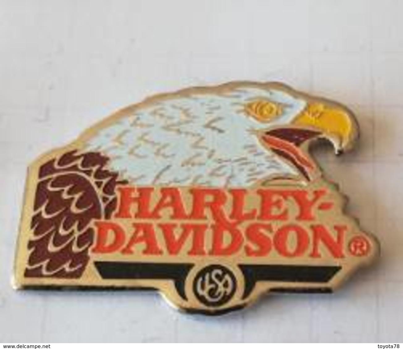 Pin's - HARLEY-DAVIDSON - Tête D'Aigle - Motorfietsen