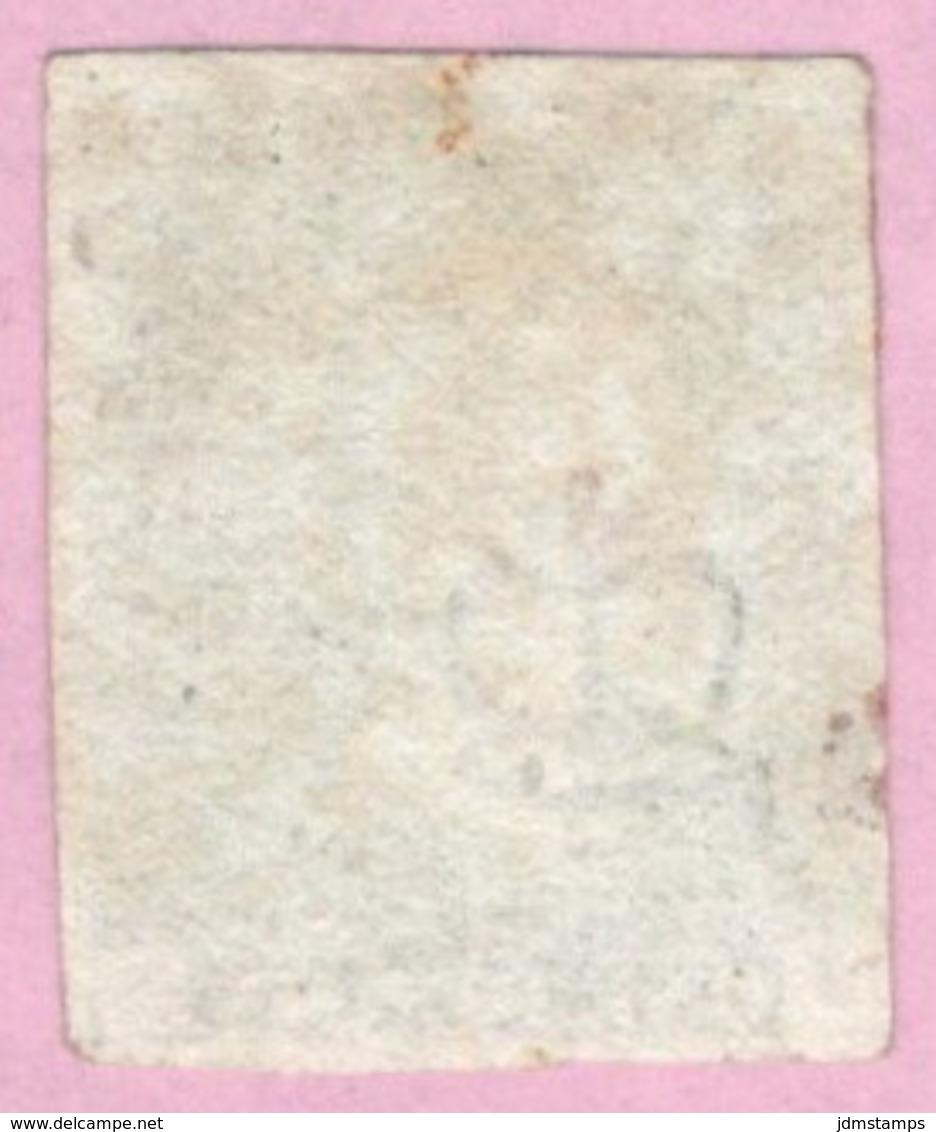 GBR SC #1 U (J,C) 1840 Queen Victoria 4 Margins W/red Cancel CV $320.00 - Used Stamps
